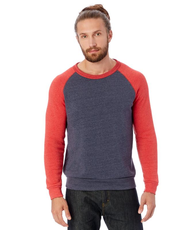 ea9ffddb8027 Alternative Apparel - AA3202 - Men s Champ Eco-Fleece Colorblocked  Sweatshirt